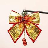 H-M-STUDIO WeihnachtsschmuckGroße FliegeGold Schmuck AnhängerGoldene BogenGlockeGroße Tuch Krawatte 50Cm