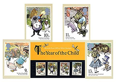 Gift Set of 1979 Year of the Child Stamp Presentation Pack and PHQ Cards (Set of 4 Royal Mail Postcards)