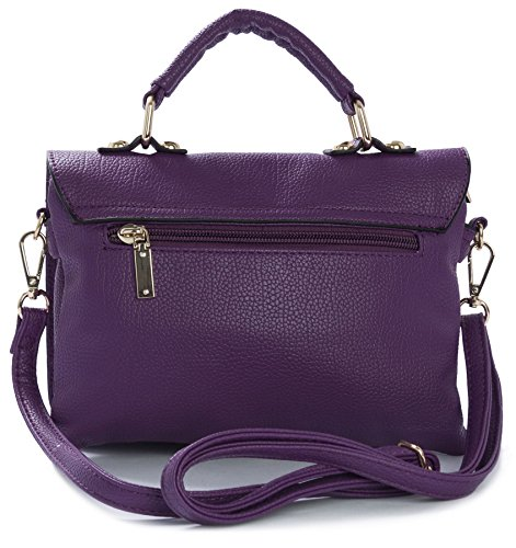 Big Handbag Shop - Borsa a tracolla donna (Coffee (BH238))