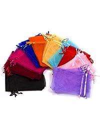 Bolsas de Organza cordón de joyería de la boda Favores bolsas de de varios colores 50