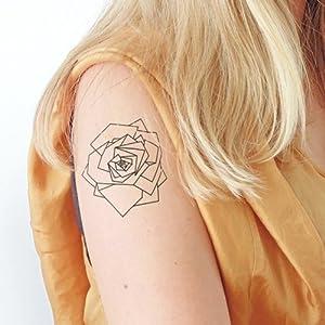 Geometrisches Rose - 2 Temporäre Tattoos