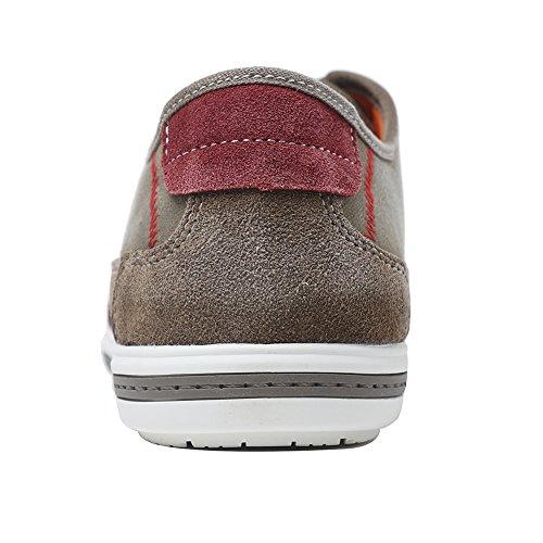 Yolkomo Moderne Lässige Herren Wildleder Low Top Sneaker Canvas Espadrille Schuhe Khaki