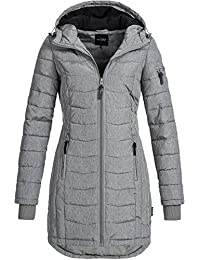DESIRES Damen Bosse Winter Steppmantel mit Kapuze Parka Wintermantel  gefüttert 5 Farben XS-XL c3057fcb35