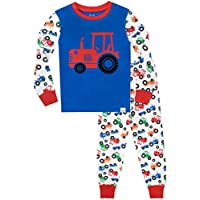 Harry Bear Boys Pyjamas Big Wheel Tractors Snuggle Fit
