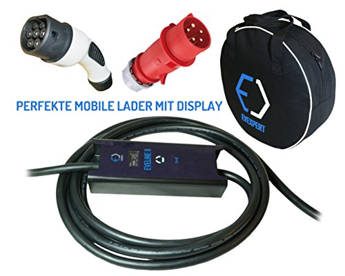 Preisvergleich Produktbild EVSE - Smart tragbare Ladegerät TYP 2 - CEE 5-polig plug (MENNEKES) / 32A / 1phase / 5m / 7, 4kW
