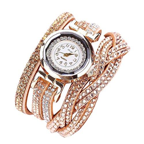 Sunnywill Duoya Frauen Mädchen Damen Schöne Mode Design Uhren Quartz Crystal Strass Uhr Armbanduhr für Weibliche