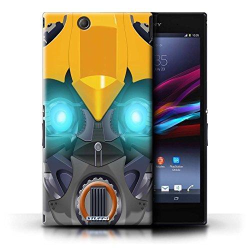 Kobalt® Imprimé Etui / Coque pour Sony Xperia Z Ultra / Opta-Bot Bleu conception / Série Robots Bumble-Bot Jaune