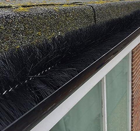 Black Gutter Brush Leaf Guard (4m) by Gutter