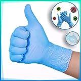 SOOTOP Guanti monouso in gomma nitrilica spessa da 100 pezzi, guanti antiscivolo in lattice di gomma spessa chirurgica blu