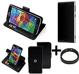 K-S-Trade® Case Schutz Hülle für Lumigon T3 + Bumper Handyhülle Flipcase Smartphone Cover Handy Schutz Tasche Walletcase schwarz (1x)