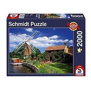 Schmidt Spiele Puzzle 58331Viajes con el hogar Boot, 2000Piezas