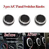 3pcs Car Air Conditioning Heat Control Switch AC Knob for Ford Mondeo / Focus Fusion C-Max S-Max ST
