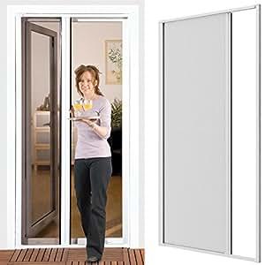 insektenschutzrollo f r t ren 125 x 220 cm mit alurahmen in wei fliegengitter t r. Black Bedroom Furniture Sets. Home Design Ideas