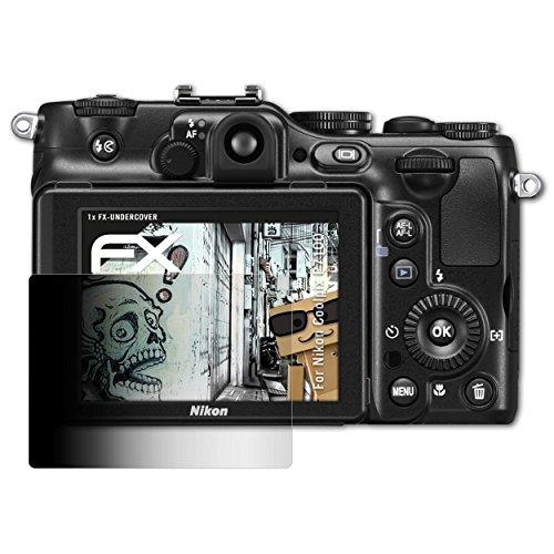 atFoliX Blickschutzfilter kompatibel mit Nikon Coolpix P7100 Blickschutzfolie, 4-Wege Sichtschutz FX Schutzfolie
