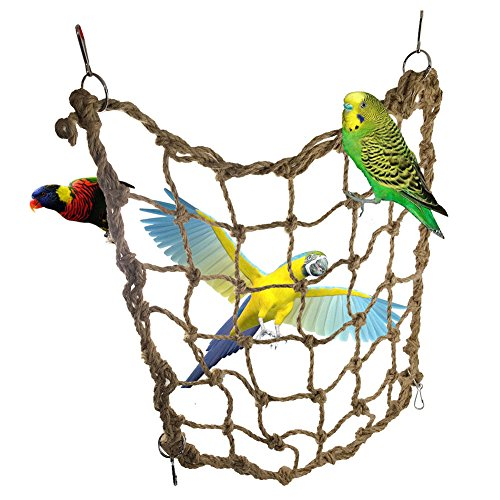 Milopon Seil Net Klettern Netz Swing Leiter Spielzeug mit Haken für Pet Parrot Birds Kauspielzeug Play Klettern