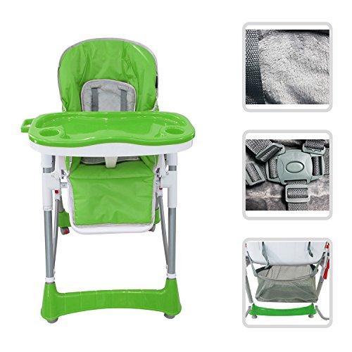 Todeco - Baby-Hochstuhl, Baby-Klappstuhl - Bereitgestellte Größe: 105 x 75 x 60 cm - Material: PVC - Grün