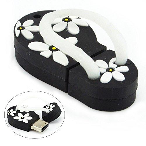 aretop-32go-cle-usb-flash-drive-en-forme-de-plage-sandal-avec-motif-de-fleurs-noir