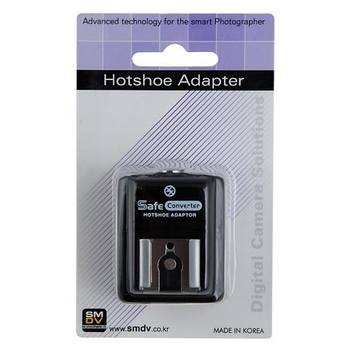 SMDV Hot Shoe Safe Sync Adapter SM-512 for Samsung NX100, NX5, NX10, GX-10, GX-20, Hotshoe (Hot-shoe-sync-adapter)