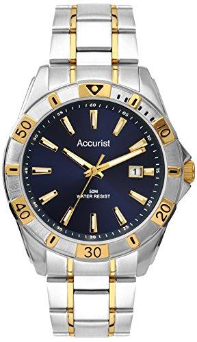 Accurist Herren MB854N - Reloj de cuarzo para hombres, correa de acero inoxidable, bicolor