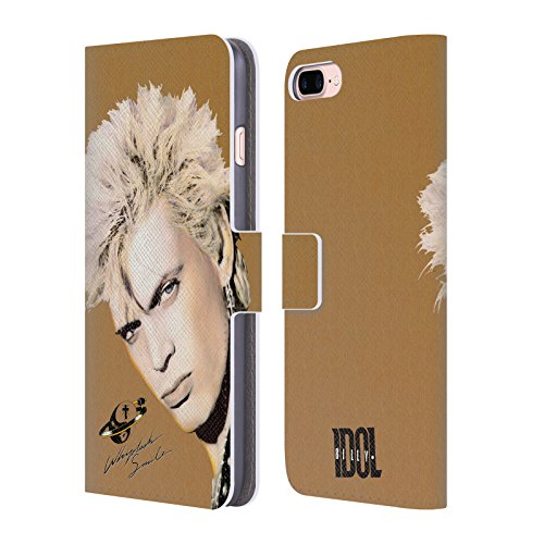Ufficiale Billy Idol Vital Idol Album Cover a portafoglio in pelle per Apple iPhone 6 Plus / 6s Plus Whiplash Smile