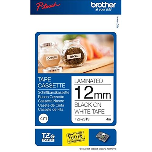 Brother Original P-touch Schriftband TZe-231S (kompatibel mit Brother P-touch PT-H100LB/R, -H105, -E100/VP, -D200/BW/VP, -D210/VP)