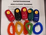 5 Pack - Pet Dog Puppy Training Clickers - each with wrist band Includes Rapidtradezone clicker instructions
