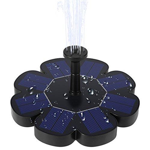 Ankway Solar Springbrunnen, 1.6W Solar Teichpumpe Verstellbarer Wasserstrom Solar Wasserpumpe für Gartenteich Oder Springbrunnen Teich, Pool, Aquarium, Gartenteich (Verbesserte Version)