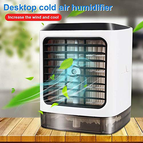 SDGDFXCHN Mini Enfriador de Aire USB Espacio Personal Humidificador de Aire Acondicionado de Aire Portátil Ventilador de Enfriamiento de Escritorio para Oficina Hogar Al Aire Libre Viajes