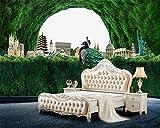 Internationale Architektur Fernsehhintergrundwände des neuen Waldtourismus der kundenspezifischen Tapete grünen ländliche Tapete des Winds 3d_400X280CM