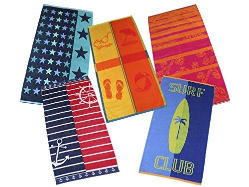 Betz Badetuch XXL Velour Strandtuch Duschtuch 100% Baumwolle Größe 86x160cm Farbe Surf Club