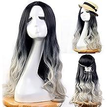 Pelucas Neverland para mujer, de 60cm, en color negro, gris, ombre. Elegantes extensiones1 de cabello, bonitas pelucas de media melena para mujeres, para disfrazarse