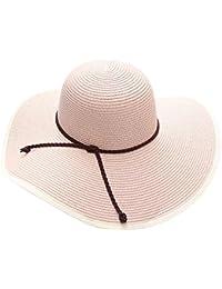 EEVASS Donne Di Estate Grande Tesa Larga Pieghevole Floscio Cappello Della  Spiaggia del Cappello di Paglia 28d80ae9cf18