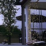Best Season System Decor LED-Net 2 x 1,5 m, 100-L- Extra Birnchen warm weiß schwarzes Kabel outdoor 495-51
