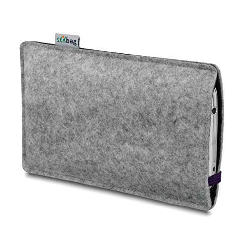 Stilbag Filztasche 'LEON' für Apple iPhone 5c - Farbe: rosa-hellgrau violett