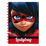 Lady Bug Miraculous 0Folio Notebook 80Sheets, 0(CYP Imports lf-01-lb)