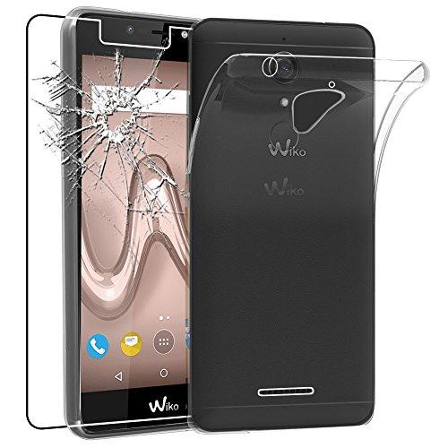 ebestStar - Wiko Tommy 2 Plus Hülle Handyhülle [Ultra Dünn], Premium Durchsichtige Klar TPU Schutzhülle, Soft Flex Silikon, Transparent + Panzerglas Schutzfolie [Phone: 155.3 x 76.8 x 8.9mm, 5.5'']