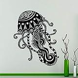 zqyjhkou Méduse Motif Sticker Animaux Marins Animaux Autocollant en Vinyle Mer Home Decor Idées Mur Intérieur Art Mode Chambre Deco DIY C446 L 57x70cm