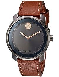 Movado Men's Bold Gun Metal Ion Plate Watch 3600378