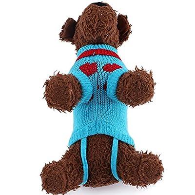 Cute Pet Puppy Cat Dog Warm Jumper Sweater Knitwear Coat Apparel Clothes 6 Sizes - Random Color