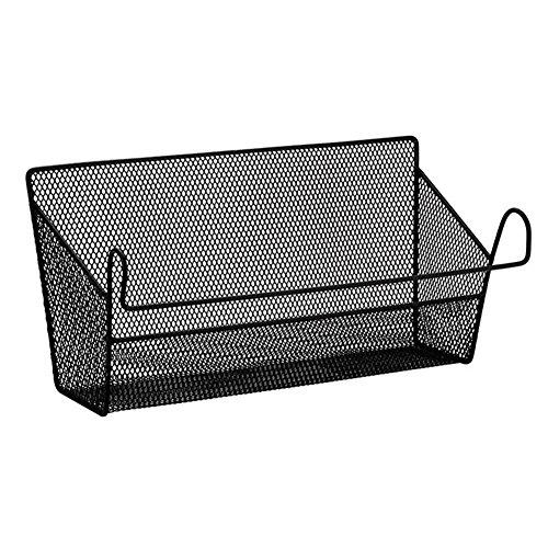 Househome armadietto angolare, da appendere alla parete cestino bagno cesto portaoggetti portaspezie ufficio da scrivania, nero