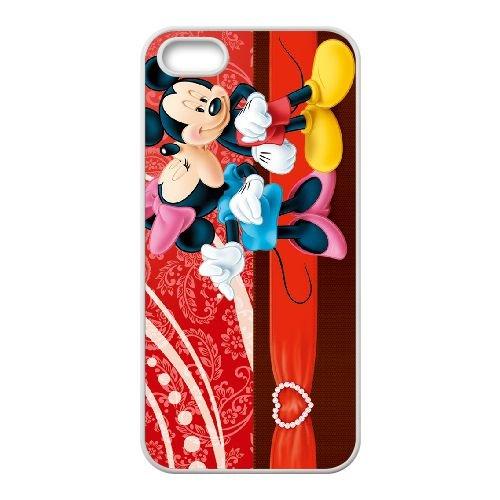 Mickey And Minnie 012 coque iPhone 5 5S Housse Blanc téléphone portable couverture de cas coque EOKXLKNBC26300
