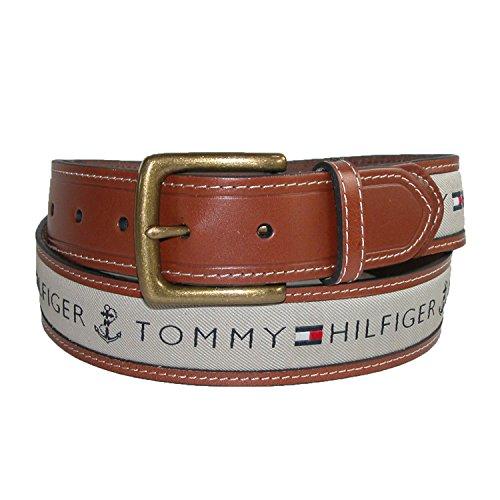 Cuir Tommy Hilfiger hommes avec Tissu Inlay Ceinture Casual