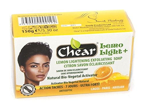 Lemo Light+ Lemon Skin Lightening Whitening Brightening Antiseptic Exfoliating Soap 150g - with natural bio vegetal activator