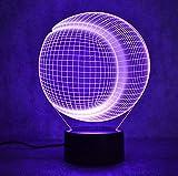 Baseball Softball Lampe 3D Usb V...