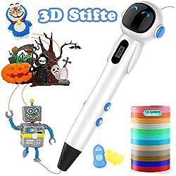 Juego de lápices 3D Lovebay 3D con un juego completo de 12 colores y pantalla LCD, lápiz 3D compatible con PLA y ABS, regalo de Navidad para niños y adultos, pintura creativa.