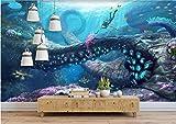 HHCYY Benutzerdefinierte 3D Tapete Unterwasserwelt Anime Dekor Malerei 3D-Tapete-250cmx175cm