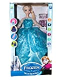 #1: Intelligent Recording Frozen Doll Baby Toys Princess Anna Musical Funny Doll for Kids Girls Bump and Return Technology HAND SWING + RECORDING + Moving Rotating Doll Toy with REMOTE CONTROL