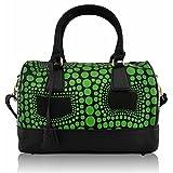Xardi London - Bolso estilo bolera de Otra Piel para mujer mediano, color Verde, talla M