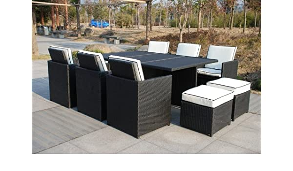 Amazing Rattan 6 10 Seater Cube Rattan Outdoor Garden Furniture Download Free Architecture Designs Jebrpmadebymaigaardcom