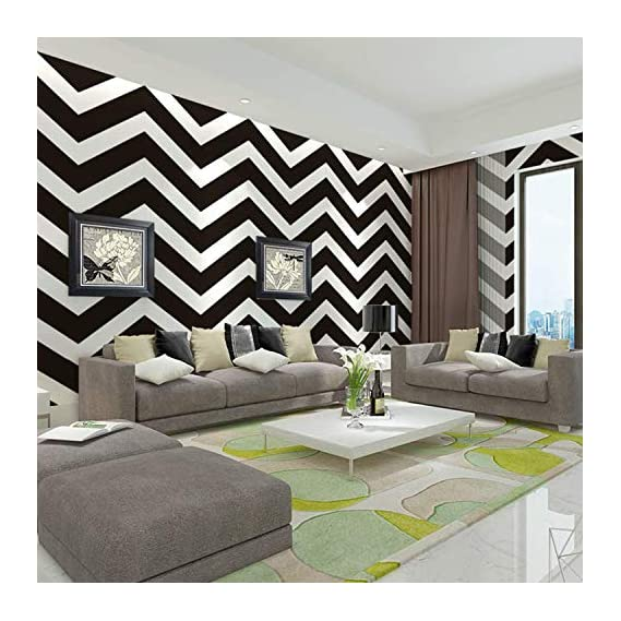 Luke and Lilly Self Adhesive Wallpaper/Wall Sticker with Water Proof - Zigzag Design (45cm X 500cm)